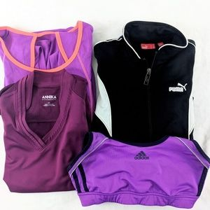 Athletic Bundle Small Jacket Sports Bra Tank Top